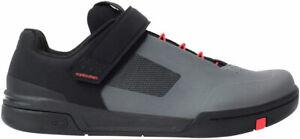 Crank Brothers Stamp SpeedLace Men's Flat Shoe - Gray/Red/Black, Size 8.5