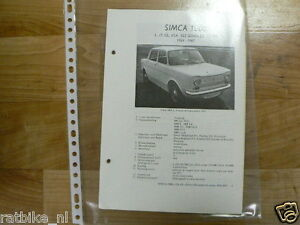 S06-SIMCA TYPE 1000 1L,LS,GL,GLA,GLS SEDAN,COUPE 1964-1