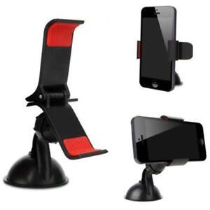 Rotating 360° Car Windshield Dash Desktop Mount Holder Clip Hold Phone For GPS