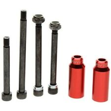 Slamm Scooter Cylinders Stunt Pegs inc. Axle - Red. Scooter Pegs Slamm Pegs