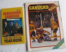 """Vancouver Canucks"" 1987-88 Hockey Yearbook & 1980 Hockey Program Magazine"