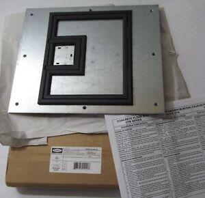 HUBBELL CFB7CVR BLK CARPET FLANGE FLOOR BOX COVER FOR RECESSED 7-GANG FB CFB7GX