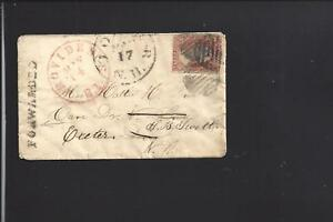 PROVIDENCE,RHODE ISLAND,#26 FORWARDED LADIES COVER TO EXETER,N.H.