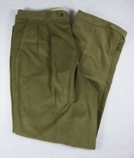 Ballin For Nordstrom Khaki Brown Corduroy Pants Relax Fit Pleats Cuffs 33 x 30