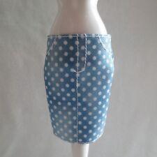 NEW Barbie Fashionista Tall Doll Blue Denim White Dot Skirt Also Fits Original