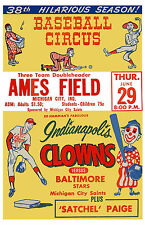 INDIANAPOLIS CLOWNS 8X10 POSTER PHOTO BASEBALL PICTURE NEGRO LEAGUE BALTIMORE ST