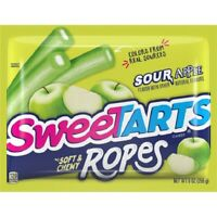 SWEETTARTS SOFT & CHEWY ROPES SOUR APPLE  CANDY BAG 9oz - PACK OF 4