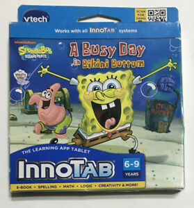 VTech InnoTab A Busy Day in Bikini Bottom Learn Software SpongeBob SquarePants