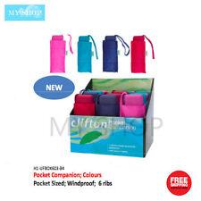 Clifton Pocket Wonder Compact Manual Light Mini Maxi Windproof Color Umbrella