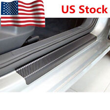 4pcs Fit For Nissan Car Door Sill Cover Carbon Fiber Plate Panel Step Protector