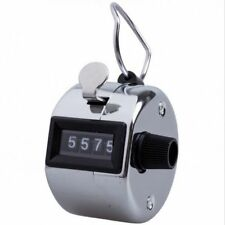 Hand Tally Counter Mechanical Manual Palm Clicker Click 4 Digit Manual Counting