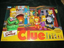 Simpsons Clue Game 2nd Edition ~ Complete~ Collectible Miniatures