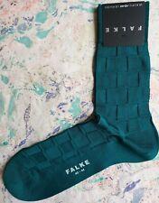 Falke Mens Cotton Socks Poetry Chess Tonal Sea Green UK 8.5-9.5 EU43-44 RRP £14