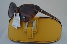 DG SUNGLASSES CELEBRITY HOLIDAY GOLD GISELLE CATEYE COLLECTION + YELLOW CASE *12