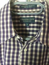 FLETCHER JONES Country Club Purple White Check Sz. Med GUC Combined Post
