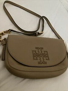NWT Tory Burch Harper Leather Crossbody in Vintage Camel/278