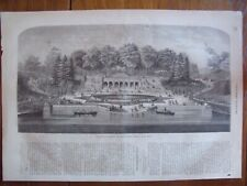 Central Park New York...wood engraving....1864