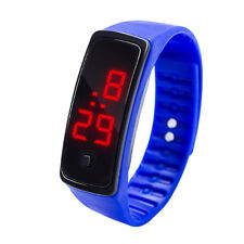 LED Digital Display Bracelet Watch Children's Students Silica Gel Sports Watchs