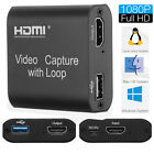 1080P HDMI Video Digtal Capture Card Recorder For Game/Video Live Streaming New