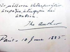 EDGAR SALTUS SIGNED - PHILOSOPHY OF DISENCHANTMENT: 1885 1st Pessimism, Decadent