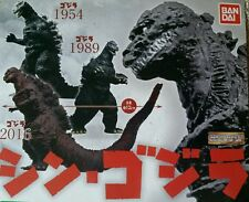 SHIN GODZILLA 1989 1954 SET OF 3 HG GASHAPON BANDAI 2016 high grade gashapon