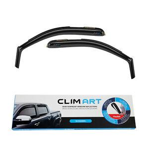 CLIM ART Window Sun visors for Chevy Silverado 2007-2013 Regular Cab In-Channel