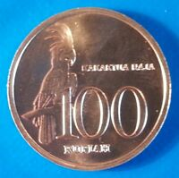 Indonesia 100 rupiah 1999 UNC Kakatua Raja Parrot Bird
