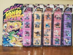 Savage Mondo Blitzers - lot of 5 - 1991 MOC VTG Figure Sets Kenner - Brand New
