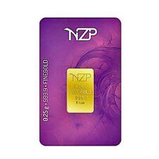 Goldbarren 0,25 Gramm Feingold (999,9) 1/4 Gramm Goldbarren NZP Gold 0.25g. Gold