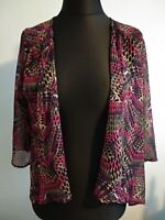Per Una Cover Up/Shrug Size 12 Pink Holiday Cruise chiffon  black
