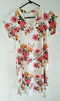 new Bobbie Brooks Woman's Lace Upper Back Dress multicolor Floral Print Size: s