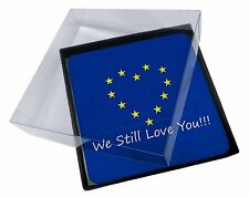 4x British Brexit, Europe 'We Still Love You' Picture Table Coasters, BRITISH-4C