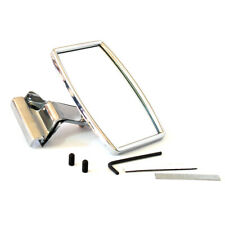 RECTANGULAR CLIP CLAMP ON OVERTAKING STAINLESS MIRROR HOTROD GT MG MGB MIDGET