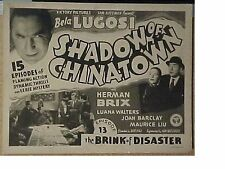 Shadow of Chinatown - Classic Cliffhanger Serial Movie Dvd Bela Lugosi