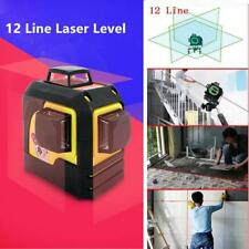 3D Laser Level 12 Beam Line Horizon Vertical 360°Rotary Cross Measuring Tool RED