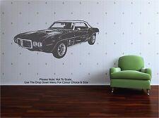 1969 Pontiac Firebird 400 - WALL ART STICKER DECAL