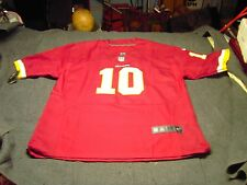 NFL WASHINGTON RED SKINS GRIFFIN III #10 NIKE On Field Jersey Size Adult 56 NWT