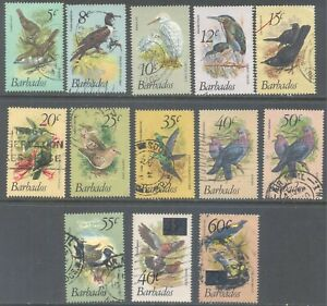 BARBADOS 1979/81 Birds Values to 60c (13) Used