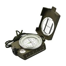 Multifunction Military Army Metal Sighting Compass High Accuracy Waterproof