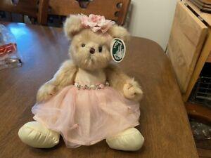 The Bearington Collection Tiny Toeshoes Ballerina Bear Plush