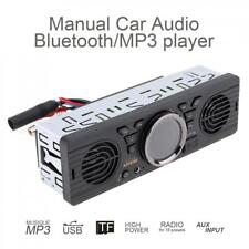 Bluetooth 1DIN Car Stereo MP3 FM Radio Audio Player AUX Dual Horn USB In Player