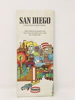 Vintage 1972 Texaco San Diego CA and Vicinity Road Map Folded Paper