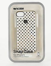 Incase Gold White Graphic Hearts Hard Snap Case for iPhone 5 E048