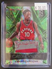 2016-17 Panini Spectra Catalysts DeMar Derozan Green Prizm Patch /25