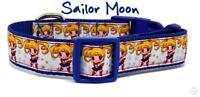 "Sailor Moon dog collar handmade adjustable buckle collar 1"" or 5/8""wide or leash"