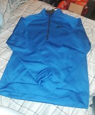 NWT NIKE DRI-FIT LONG SLEEVE QUARTER ZIP PULLOVER ROYAL BLUE 860497-433 SZ L