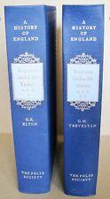 ENGLAND UNDER THE TUDORS and STUARTS 2 Volumes Folio Society NO BOX VGC