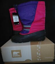 Sorel Cub Youth Big Girls Size 7M Winter Snow Boots Bright Rose