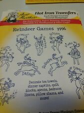 Aunt Martha's Hot Iron Transfer 3996 Reindeer Games