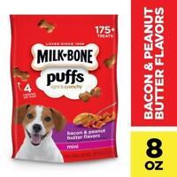 Milk-Bone Puffs Peanut Butter & Bacon Mini Dog Treats